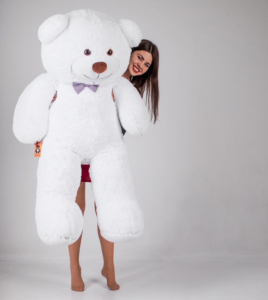 Великий плюшевий ведмідь Yarokuz Джеральд 165 см Білий