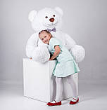 Великий плюшевий ведмідь Yarokuz Джеральд 165 см Білий, фото 3