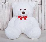 Великий плюшевий ведмідь Yarokuz Джеральд 165 см Білий, фото 4