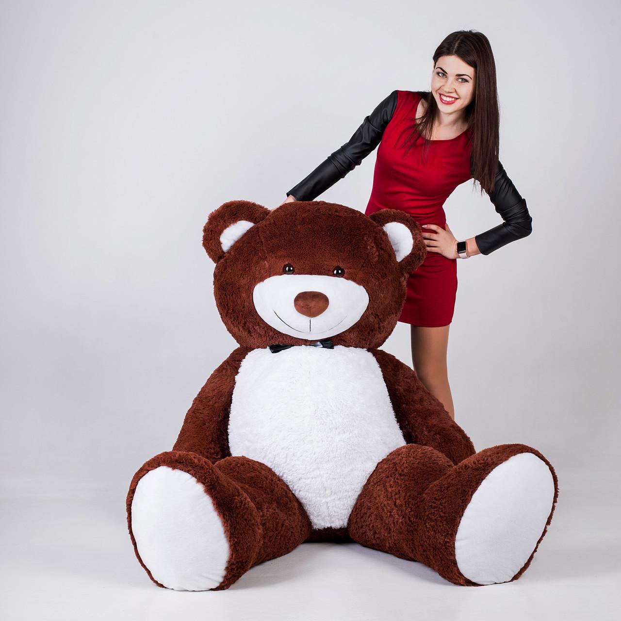 Великий плюшевий ведмедик Yarokuz Річард 200 см Шоколадний