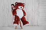 Великий плюшевий ведмедик Yarokuz Річард 200 см Шоколадний, фото 2