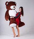 Великий плюшевий ведмедик Yarokuz Річард 200 см Шоколадний, фото 5
