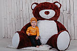 Большой плюшевый мишка Yarokuz Ричард 200 см Шоколадный, фото 6