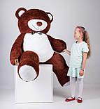 Великий плюшевий ведмедик Yarokuz Річард 200 см Шоколадний, фото 7