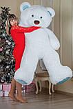 Великий плюшевий ведмедик Yarokuz Річард 200 см Білий з блакитним, фото 5