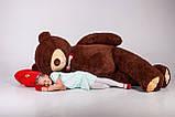 Огромный мягкий мишка Yarokuz Уильям 250 см Шоколадный, фото 5