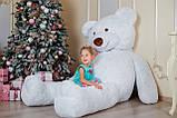 Огромный мягкий мишка Yarokuz Уильям 250 см Белый, фото 6