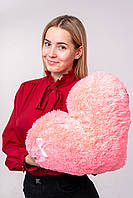 """Мягкая игрушка Yarokuz подушка """"Сердце"""" 50 см Розовая, фото 1"""