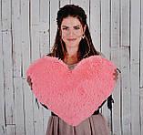 """Мягкая игрушка Yarokuz подушка """"Сердце"""" 50 см Розовая, фото 4"""