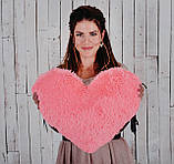 """М'яка іграшка Yarokuz подушка """"Серце"""" 50 см Рожева, фото 4"""