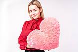 """М'яка іграшка Yarokuz подушка """"Серце"""" 50 см Рожева, фото 5"""