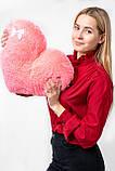 """М'яка іграшка Yarokuz подушка """"Серце"""" 50 см Рожева, фото 7"""
