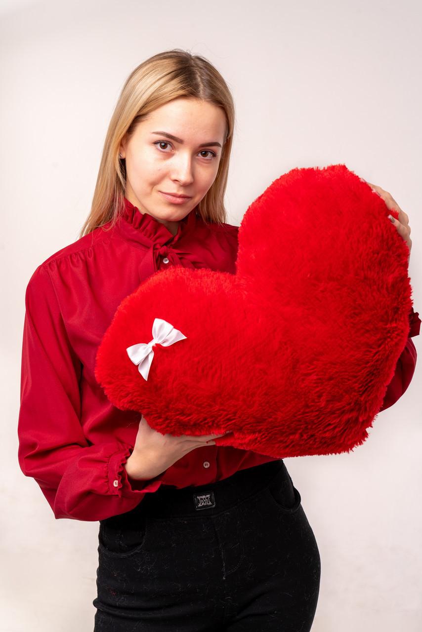 """М'яка іграшка Yarokuz подушка """"Серце"""" 50 см Червона"""