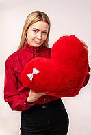 """Мягкая игрушка Yarokuz подушка """"Сердце"""" 50 см Красная, фото 1"""
