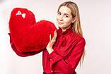 """М'яка іграшка Yarokuz подушка """"Серце"""" 50 см Червона, фото 3"""