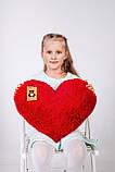 """Мягкая игрушка Yarokuz подушка """"Сердце"""" 50 см Красная, фото 4"""
