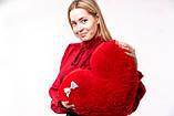 """М'яка іграшка Yarokuz подушка """"Серце"""" 50 см Червона, фото 5"""