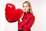 """М'яка іграшка Yarokuz подушка """"Серце"""" 50 см Червона, фото 7"""