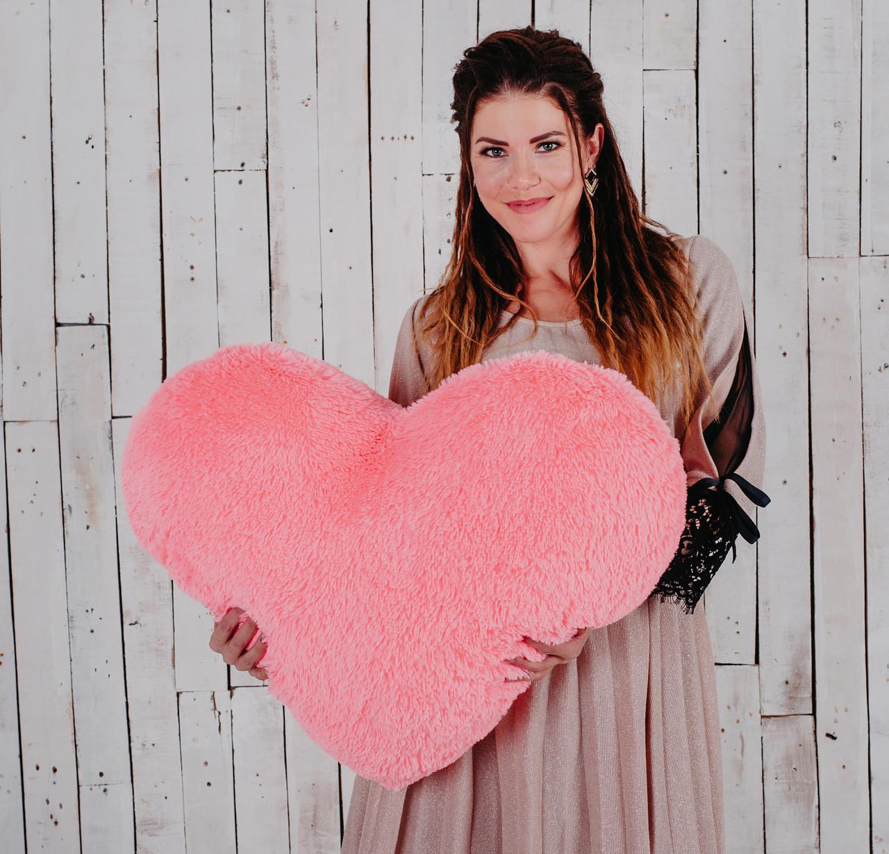 """М'яка іграшка Yarokuz подушка """"Серце"""" 75 см Рожева"""