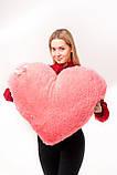 """М'яка іграшка Yarokuz подушка """"Серце"""" 75 см Рожева, фото 2"""
