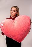 """М'яка іграшка Yarokuz подушка """"Серце"""" 75 см Рожева, фото 4"""