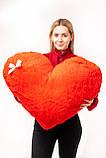 """Мягкая игрушка Yarokuz подушка """"Сердце"""" 75 см Красная, фото 3"""