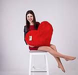 """Мягкая игрушка Yarokuz подушка """"Сердце"""" 75 см Красная, фото 4"""