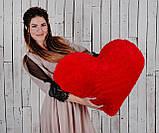 """Мягкая игрушка Yarokuz подушка """"Сердце"""" 75 см Красная, фото 7"""