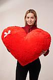 """Мягкая игрушка Yarokuz подушка """"Сердце"""" 75 см Красная, фото 8"""
