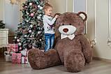 Величезний м'який ведмедик Yarokuz Вільям 250 см Капучіно, фото 2