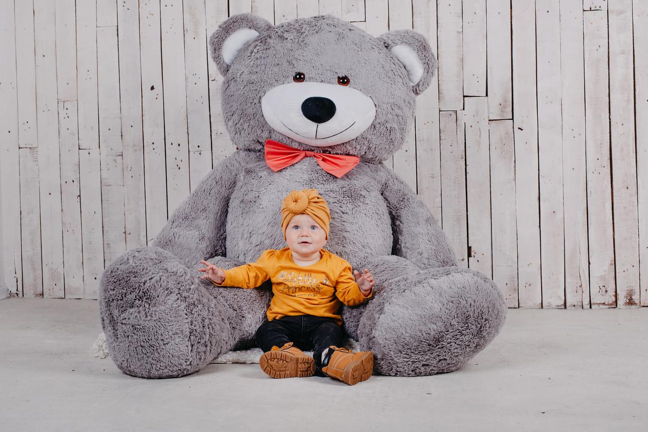 Великий плюшевий ведмедик Yarokuz Річард 200 см Сірий