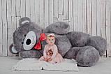 Большой плюшевый мишка Yarokuz Ричард 200 см Серый, фото 4