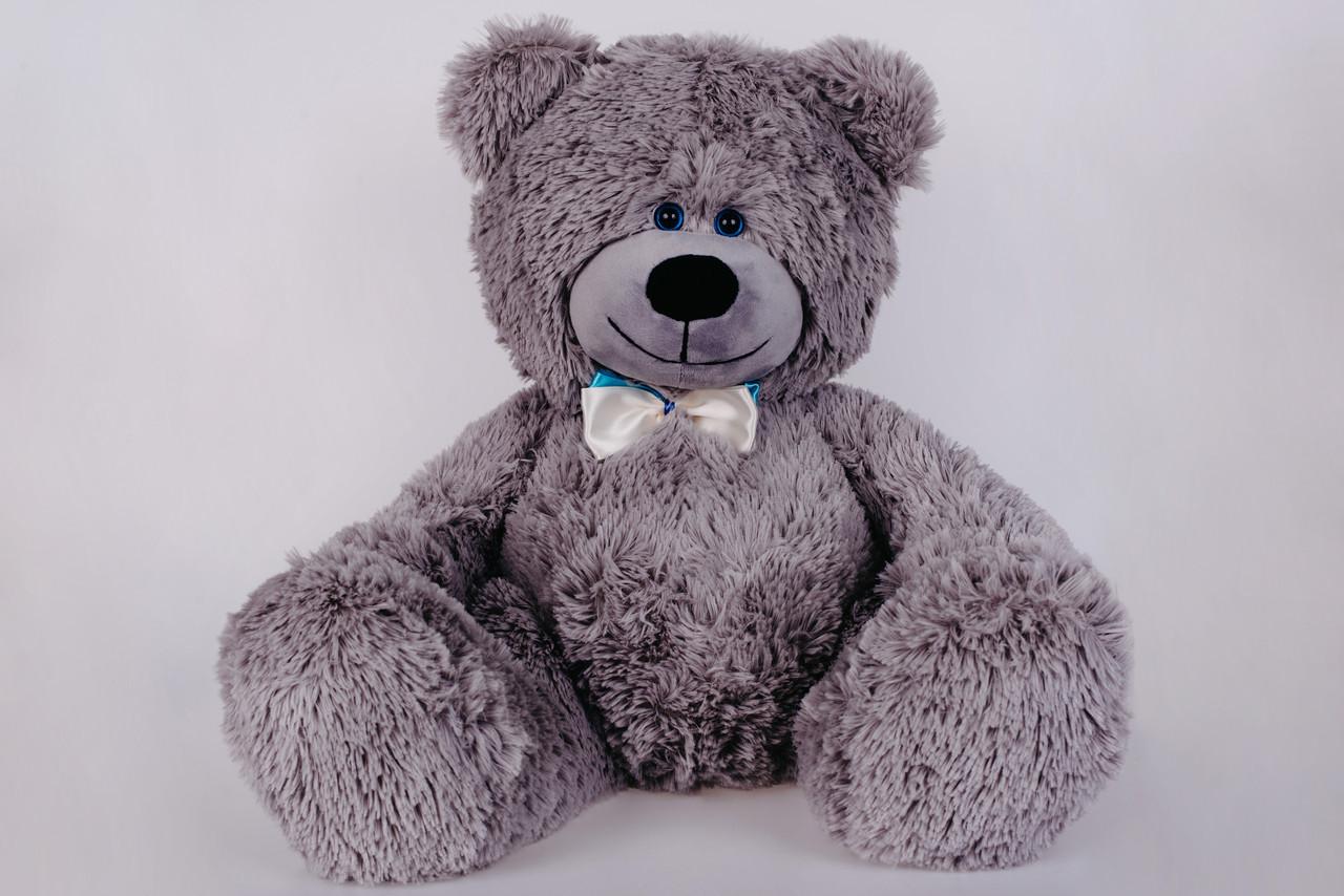 Плюшевий ведмедик Yarokuz Джеймс 65 см Сірий