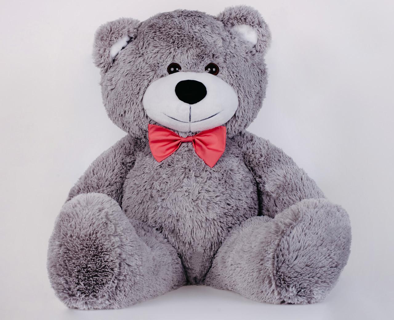 Ведмедик плюшевий Yarokuz Джон 110 см Сірий