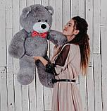 Ведмедик плюшевий Yarokuz Джон 110 см Сірий, фото 2
