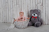 Ведмедик плюшевий Yarokuz Джон 110 см Сірий, фото 3