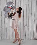 Ведмедик плюшевий Yarokuz Джон 110 см Сірий, фото 4