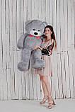 Большая мягкая игрушка мишка Yarokuz Билли 150 см Серый, фото 5