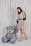 Большая мягкая игрушка мишка Yarokuz Билли 150 см Серый, фото 7