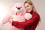Мишка плюшевый Yarokuz Джон 110 см Розовый, фото 4