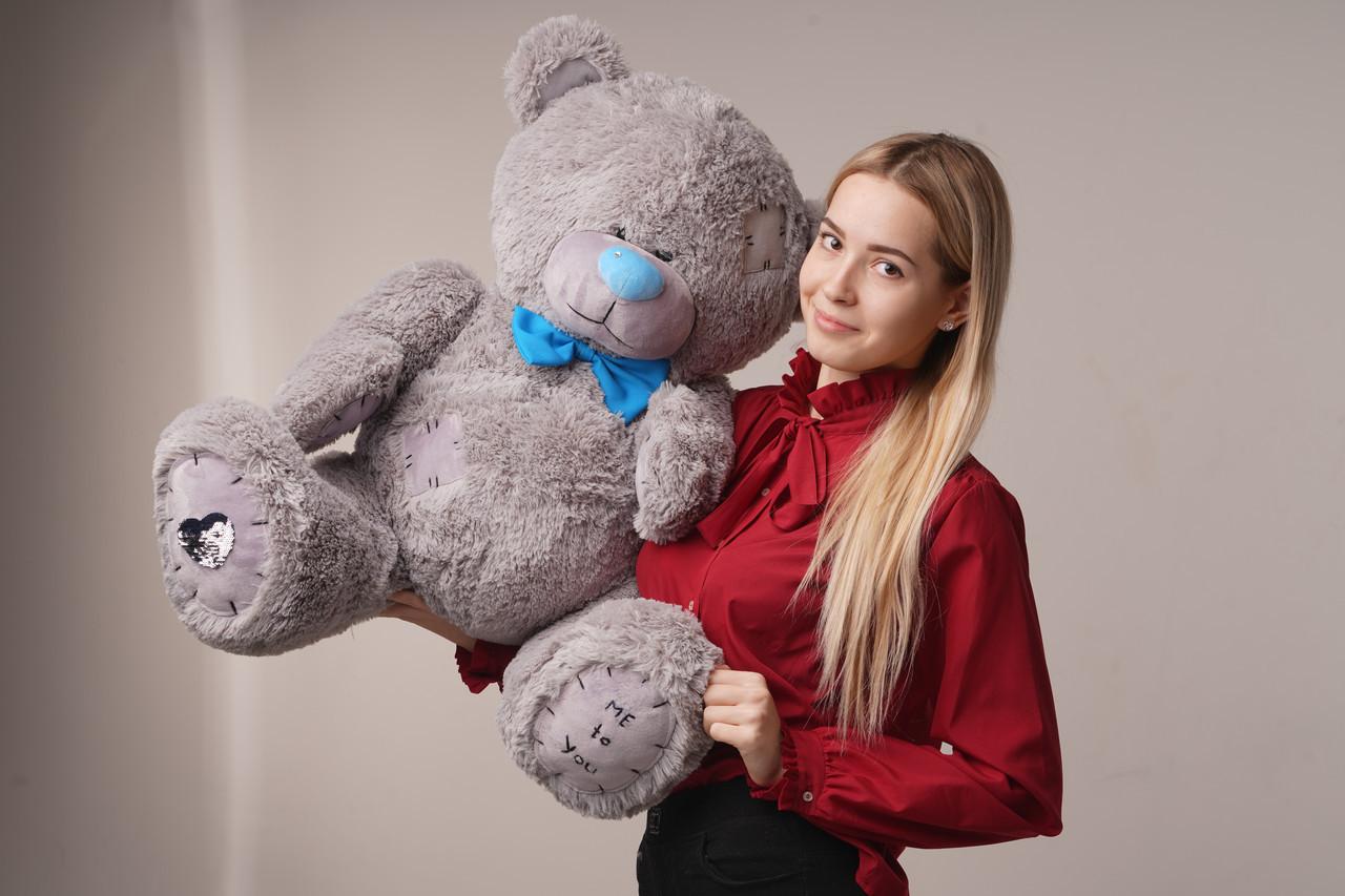 Мишка плюшевый Yarokuz Me To You 100 см Серый