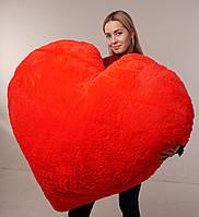 """Мягкая игрушка подушка """"Сердце"""" 150 см Красная. Подушка сердце"""