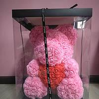 Мишка из роз 40 см подарок девушке