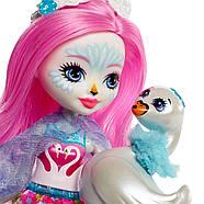 Enchantimals Лебідь Саффі і один Пойз Enchantimals Saffi Swan Doll & Poise, фото 8