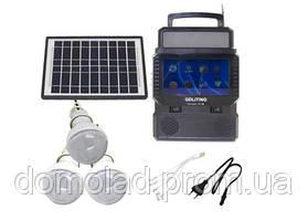 Портативна Сонячна Система Освітлення TV FM GDLite GD-8086 Сонячна Система З Телевізором