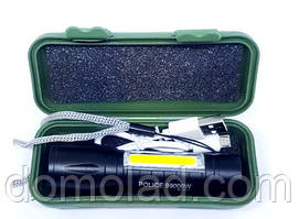 Фонарик Карманный Bailong BL-511 ХРЕ+COB USB Charge ZOOM