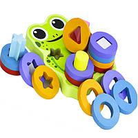 Деревянная игрушка Логика-головоломка «Лягушонок», развивающие товары для детей.