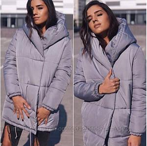 """Теплая женская удлиненная курточка """"Зефирка"""""""