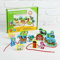 Деревянная игрушка Шнуровка MD 1263 (Ферма)