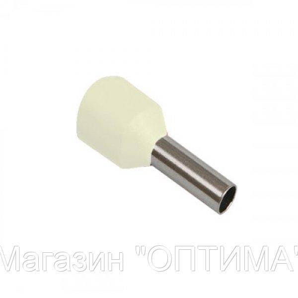Наконечник гильза 10мм Е10-12 слоновая кость (20 шт)